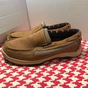 7f422fed6cf Reel Legends Mens Catamaran Slip On Tan Boat Shoes